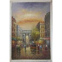 Oil Painting - Street Scene