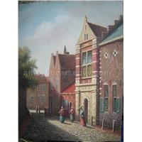 Street Scene Oil Painting