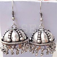silver cris earring