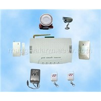 GSM home alarm system with photo taking and small appliance control function