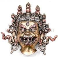 Handmade Tibetan Mask Copper Tribal Mask
