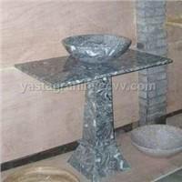 Stone Sink, Stone Sink with Iron Shelf, Stone Sink Pedestal