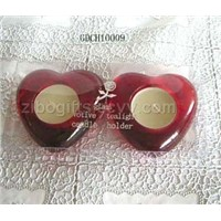heart shape glass candle holders
