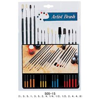 15 Artist Brushes -Factory Price($0.55 Only)