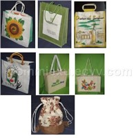 laminated hemp bag jute bag custom bag designer bag