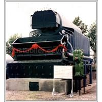Coal fired water tube steam boiler