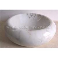 White Marble Basin & Sink