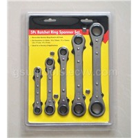 5PC Double Offset Ratchet Ring Spanner Set