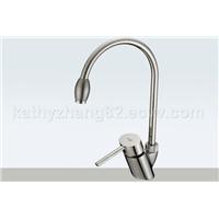 Single lever kitchen faucet swan