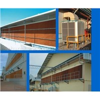evaporative cooling pad wall