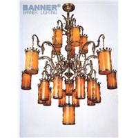 Alabaster brass chandelier