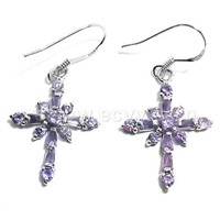 CZ' Stone Silver Earrings (CZE2111)