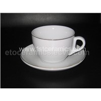 Espresso and Cappuccino Cup & Saucer