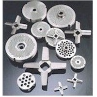 meat grinder and its knife blades plates