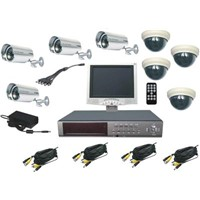 8Ch LCD DVR& Outdoor Camera Kit System