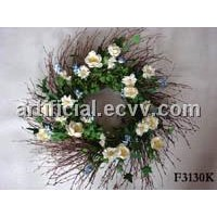 Artificial wreath ,artificial flower wreath,candle ring,Christmas wreath,floral wreath