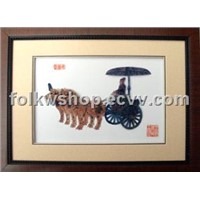 Folk Painting-Straw Handicraft Painting (TCH--Horse Drawn)