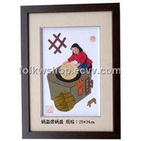 Folk Painting - Straw Handicraft Painting
