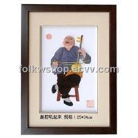 Straw Painting - Roaring Shaanxi Opera