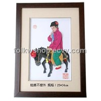 Straw Handicraft Painting - the Girl Don`t Marry Others