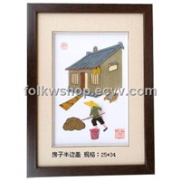 Straw Handicraft Painting