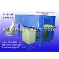 Quilted fabric waste and  foam cutting machine