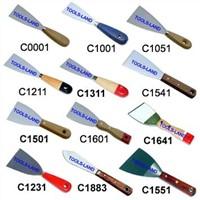 Scrapers, wood handle