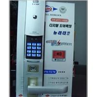 Electronic knob door locks