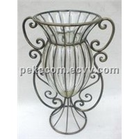 Glass & Metal Clear Vase (PK-FD08411)