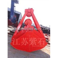 Motor hydraulic double scoops grab