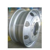 Steel wheel rims for buses and trucks