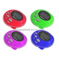 Time pedometer,pedometer with time ,pedometer with stop watch ,pedometer with alarm clock ,digital