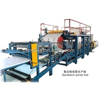 sandwich panel roll forming machine line