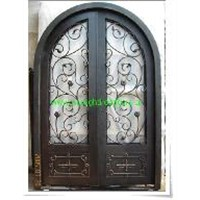 wrought iron security front door
