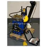 Alloy wheel repair machine