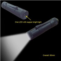 Flashlight with One Super-Bright LED (#201)