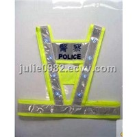 LED safety vest, reflective safety kit