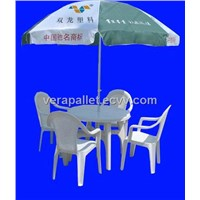 Outdoor Funiture Plastic Table Chair umbrella