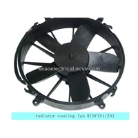 Radiator fan for auto air conditioner system