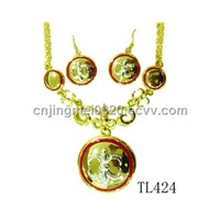 fashion alloy and enamel necklace set TL424