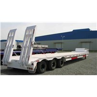 low bed trailer for heavy loading