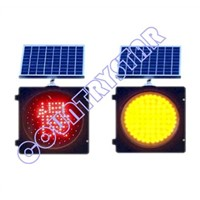 300mm solar warning light