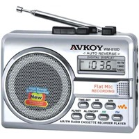 AM FM RADIO CASSETTE RECORDER WITH AUTO-REVERSE