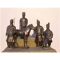 Bronze terracotta warrior