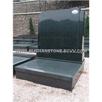 European and American style China Black memorials tombstone, marble and Chinese black granite urns