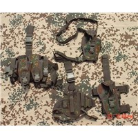 german flecktarn holster chest rig