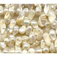 white blister freshwater pearls