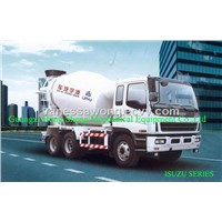 Concrete mixing trucks for transportation