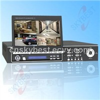 Embedded DVR Built in 7 Inch LCD Monitor Support PS/2 Mouse Control (SKY-8204T)