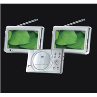 Portable DVD/Car DVD with two 7inch monitor (KD200-705DTV)